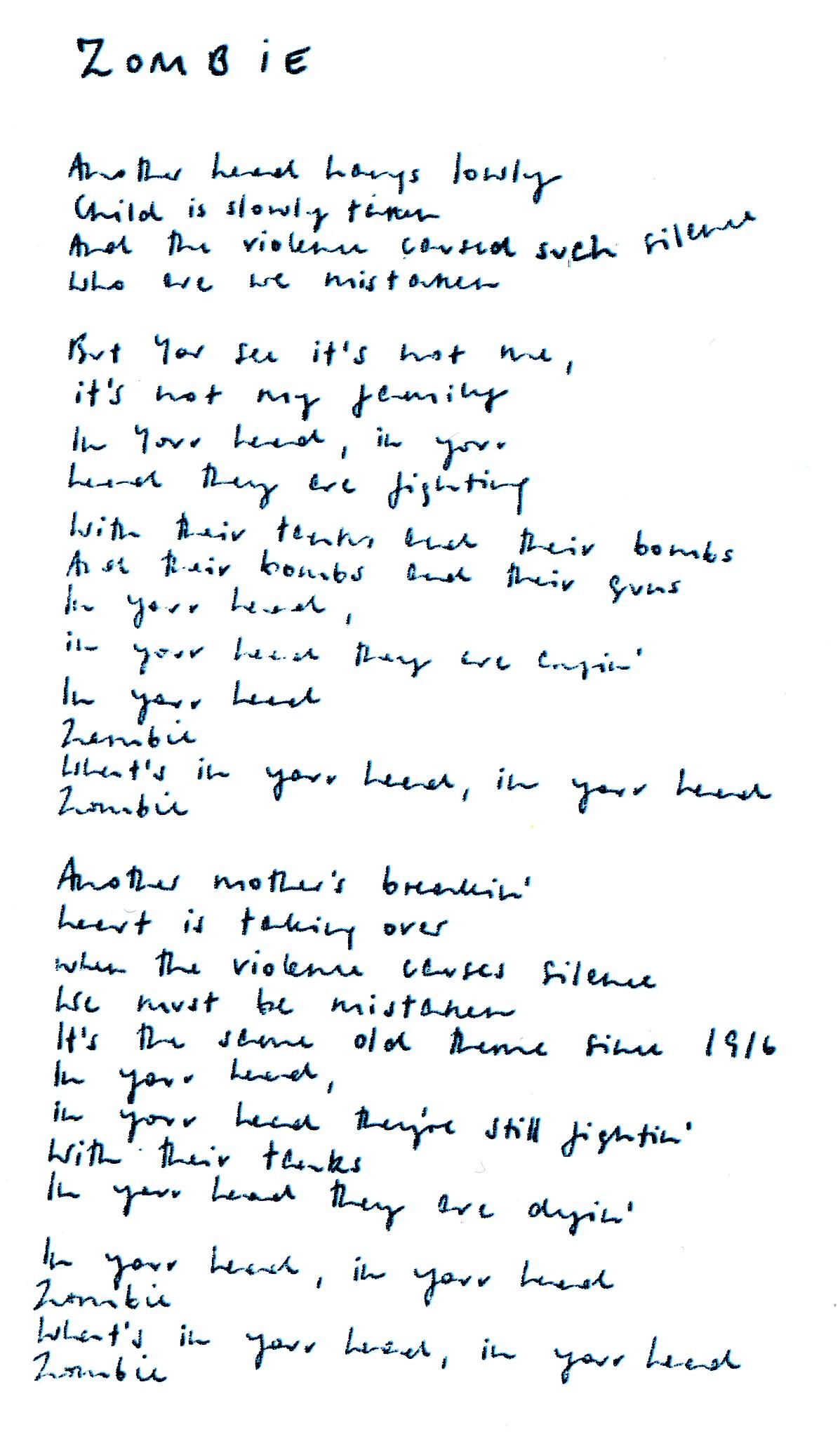 The Cranberries - Bosnia Lyrics | SongMeanings