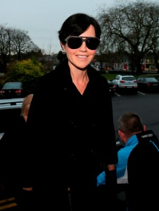 Cranberries singer Dolores O'Riordan arrives at Ennis District Court where she has been charged over an incident on a flight from New York. PRESS ASSOCIATION Photo. Picture date: Wednesday December 16, 2015. See PA story COURTS Cranberries. Photo credit should read: Niall Carson/PA Wire